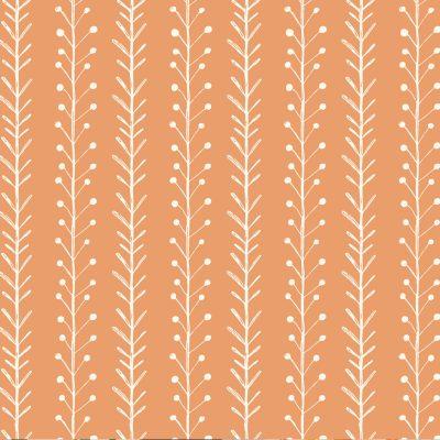 katia-coton-popeline-orange-fleurs